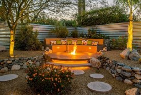 26+ Awesome DIY Fire Pit Plans Ideas With Lighting in Frontyard (10)