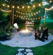 26+ Awesome DIY Fire Pit Plans Ideas With Lighting in Frontyard (13)
