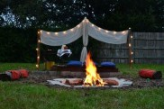 26+ Awesome DIY Fire Pit Plans Ideas With Lighting in Frontyard (14)