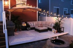 26+ Awesome DIY Fire Pit Plans Ideas With Lighting in Frontyard (15)