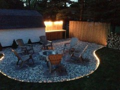 26+ Awesome DIY Fire Pit Plans Ideas With Lighting in Frontyard (17)
