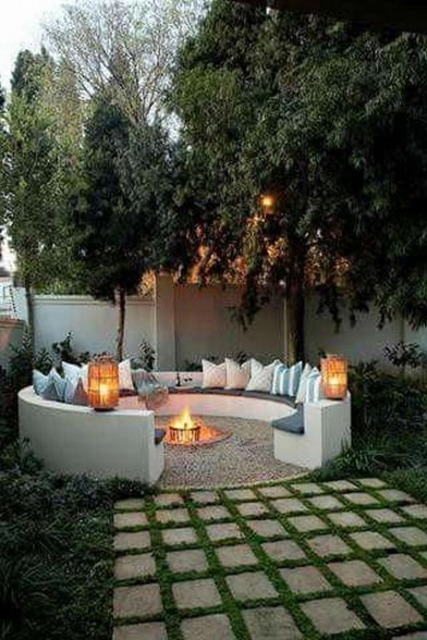 26+ Awesome DIY Fire Pit Plans Ideas With Lighting in Frontyard (18)