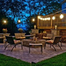 26+ Awesome DIY Fire Pit Plans Ideas With Lighting in Frontyard (21)