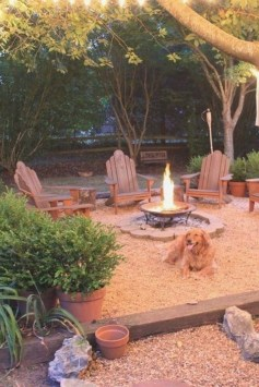 26+ Awesome DIY Fire Pit Plans Ideas With Lighting in Frontyard (27)