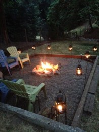 26+ Awesome DIY Fire Pit Plans Ideas With Lighting in Frontyard (6)