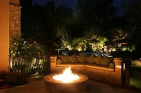 26+ Awesome DIY Fire Pit Plans Ideas With Lighting in Frontyard (9)