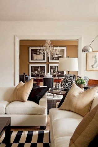 93+ Comfy Apartment Living Room in Black and White Style Ideas (48)