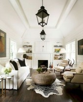 93+ Comfy Apartment Living Room in Black and White Style Ideas (56)