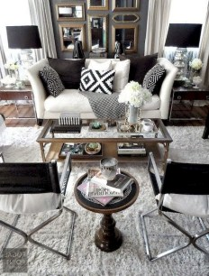 93+ Comfy Apartment Living Room in Black and White Style Ideas (94)