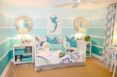 36+ Sweet Mermaid Themes Bedroom Ideas For Your Children (35)