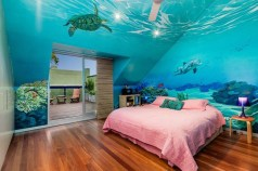 36+ Sweet Mermaid Themes Bedroom Ideas For Your Children (36)