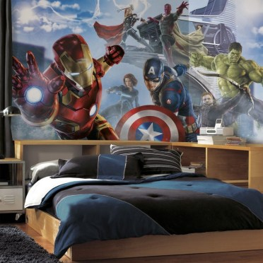 44+ Cool Superhero Theme Ideas For Boy's Bedroom (14)
