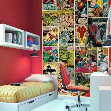 44+ Cool Superhero Theme Ideas For Boy's Bedroom (36)
