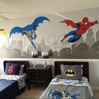 44+ Cool Superhero Theme Ideas For Boy's Bedroom (4)