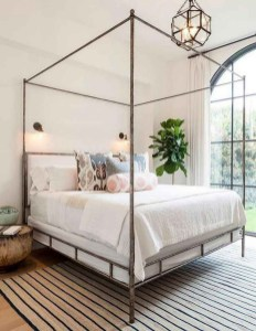 64+ SIMPLE AND EASY DIY BEDROOM CANOPY IDEAS ON A BUDGET 33