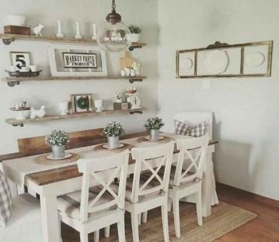 75+ Stuning Farmhouse Dining Room Decor Ideas 12