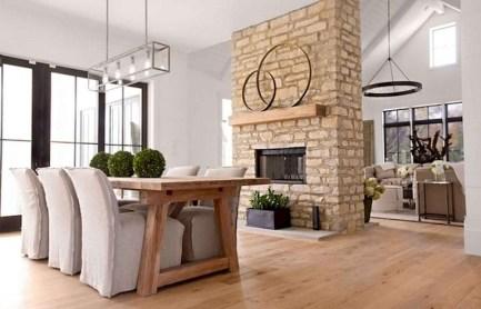 75+ Stuning Farmhouse Dining Room Decor Ideas 27