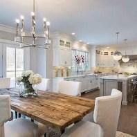 75+ Stuning Farmhouse Dining Room Decor Ideas 42