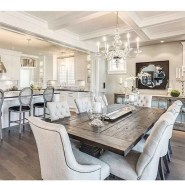 75+ Stuning Farmhouse Dining Room Decor Ideas 55