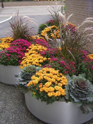 88+ Amazing Fall Container Gardening Ideas (57)