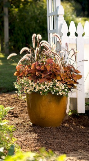 88+ Amazing Fall Container Gardening Ideas (86)