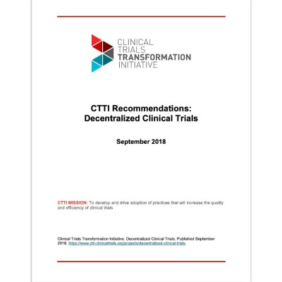 CTTI Decentralized clinical trials