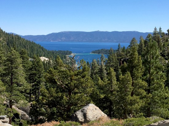 View of Lake Tahoe and Emerald Bay From Upper Eagle Falls
