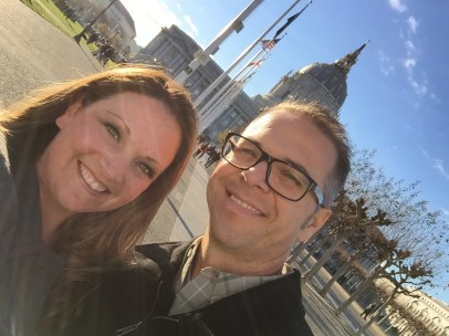 Jennifer Bourn and Brian Bourn in San Francisco