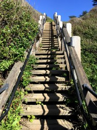 Steep Staircase Hike With Switchbacks
