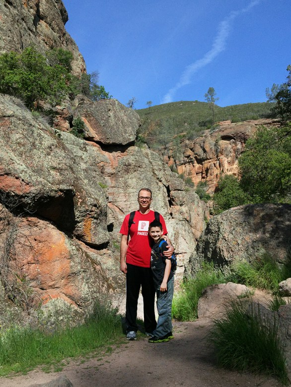 Brian Bourn and Carter Bourn Bear Gulch Trail