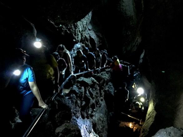 Groups Hiking Bear Gulch Cave