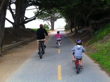 Riding Bikes with Kids On The Monterey Coastal Recreational Trail