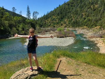 Natalie Bourn Hiking to Codfish Falls