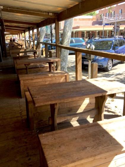Picnic Tables in Old Sacramento