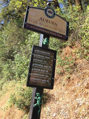 Auburn State Recreation Area Trail Sign