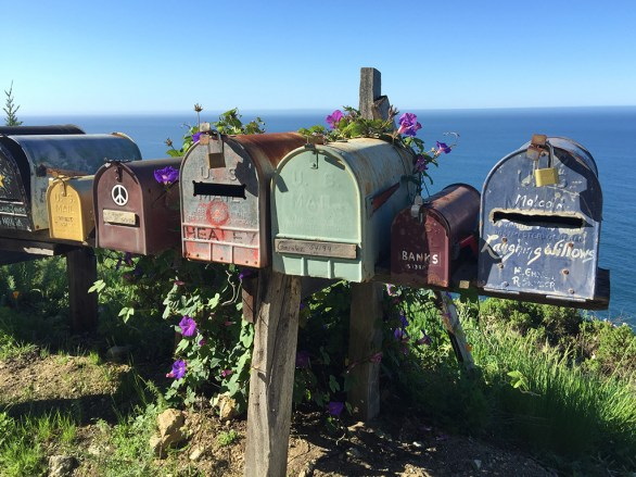 Mailboxes and Flowers on the Pacific Coast Highway