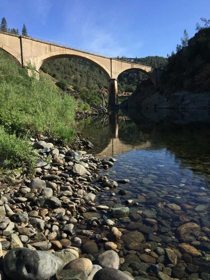 Mountain Quarries Bridge Across The American River