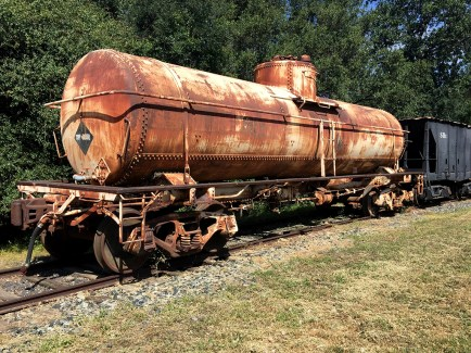 Old Train Cars on Display at Railtown 1897 in Jamestown California