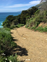 Steep hike Going South on Overlook Trail to Environmental Campsites