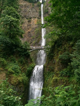 Benson Bridge At Multnomah Falls, Oregon