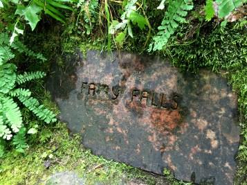Fairy Falls Sign Above Wahkeena Falls