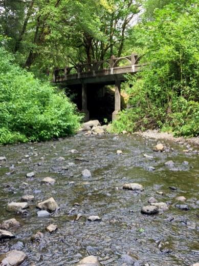 Horsetail Falls Bridge On The Columbia River Highway