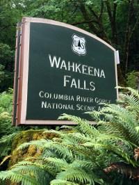 Wahkeena Falls Sign