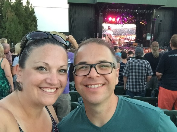 Jennifer and Brian Bourn at the Dead and Company Wheatland Concert