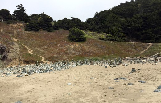 View of the Coastal Trail from Mile Rock Beach