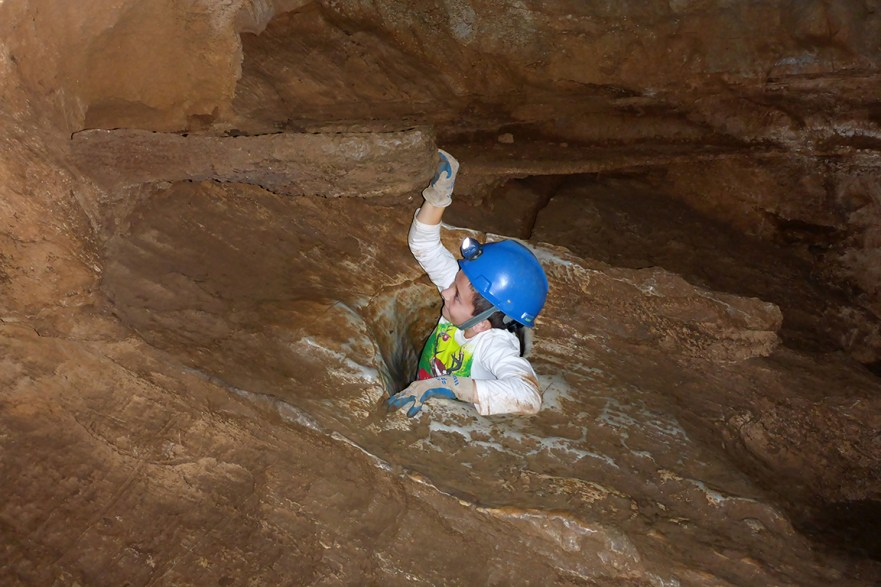 Climbing Out Of Cavern Womb Room
