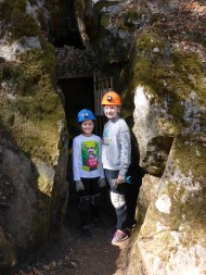 Kids Caving Adventure Underground At California Cavern