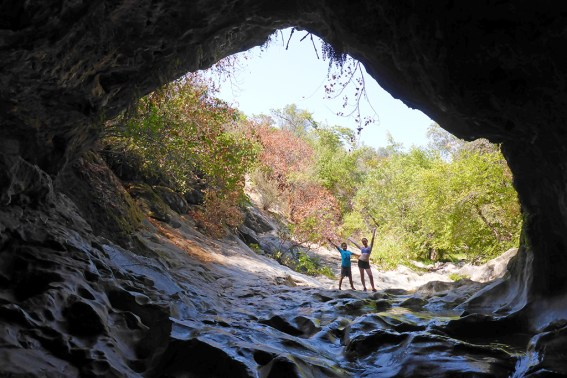 Looking North Out Of Natural Bridges Cave