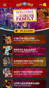 Ringling Bros Circus Mobile App Experience