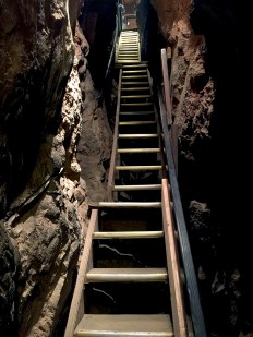 Staircase into Moaning Cavern on the Walking Tour